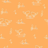 Birdie musical — Stock Vector