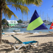 Hotel Beach Near Falmouth Harbour Marina Antigua Barbuda — Stock Photo #52690695