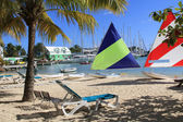 Hotel Beach Near Falmouth Harbour Marina Antigua Barbuda — Stock Photo