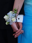 White Rose Wrist Corsage — Stock Photo