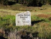 Sign for Adeline Hornbek Homestead — Stock Photo