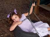 Young Girl Swinging — Stock Photo