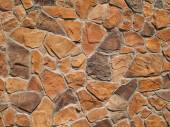 Orange and Brown Rock Wall Texture — Stock Photo