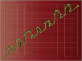 Jpg.  Housing Graph Projecting Upward — Stock Photo