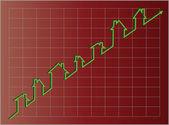 Vector Eps8, Housing Graph Projecting Upward — Stock Vector
