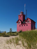 Big Red Lighthouse in Holland Michigan — Stock Photo