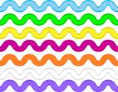 Vector eps8 ric rac en 7 colores. — Vector de stock