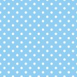 Jpg.  Blue background with white polka dots. — Stock Vector #55655195
