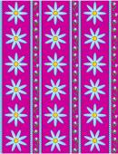 Vector eps10.  Pink wallpaper background with blue cornflowers accented by blue stripes and quilting stitches. — Vettoriale Stock