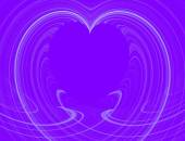 White Heart Design With Purple Copy Space — Stock Photo