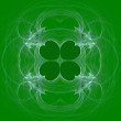 Green and white, seamless clover abstract fractal wallpaper, textile pattern or background design.that can be used for St. Patricks Day. — Stock Photo #55839149