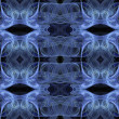 Seamless abstract fractal wallpaper, textile pattern or backbround in blue, baby blue, white and black. — Stock Photo #55839437