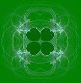 Green and white, seamless clover abstract fractal wallpaper, textile pattern or background design.that can be used for St. Patricks Day. — Stock Photo