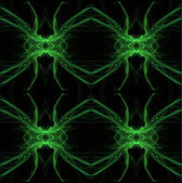 Seamless, continuous background, textile pattern or wallpaper in green and black with the look of a spider or all-seeing eye, designed for continuous repeating. — Stock Photo