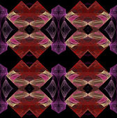 Seamless continuous background, textile pattern or wallpaper in lavender, red, pink and beige on black — Stock Photo
