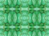 Seamless abstract fractal wallpaper, textile pattern or background, in green, mint green and gold or tan. — Stock Photo