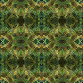 Seamless abstract fractal wallpaper, textile pattern or background in multi-colors of greens and golds. — Stock Photo