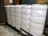 Plastic Wrapped Cotton Bales in south Georgia. — Stock Photo