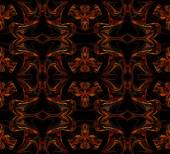 Seamless wallpaper, textile pattern or background in multi-colors on a black background. — Stock Photo