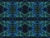 Seamless, continuous textile or wallpaper type pattern in blue, green and black. — Stock Photo