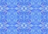 Seamless continuous fractal textile pattern in pastel blue. — Stock Photo