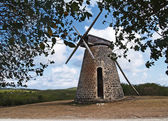 Old windmill on Bettys Hope Plantation near Seatons, Pares on Antigua Barbuda in the Caribbean Lesser Antilles West Indies. — Stock Photo