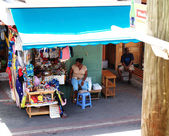 Sitting in the Marketplace in Antigua Barbuda — Stock Photo