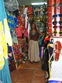 Shop Owner in the Antiguan Barbuda Marketplace — Stock Photo