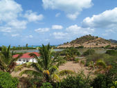 Home with a view in Antigua Barbuda in the Caribbean Lesser Antilles West Indies. — Stock Photo