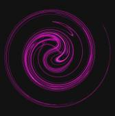 The motion of something purple spiraling or swirling on a black background. — Stock Photo