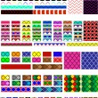 Vector eps8.  5 Different swatch patterns in multiple colors ready to drag & drop in your swatch or brush pallets, which are easily editable to the colors you want. Fill and brush examples are shown. — Stock Vector #56870747