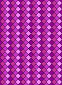 Vector eps8, pink and purple variegated diamond snake style wallpaper texture pattern. — Stock Vector