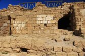 Warehouse ruins in Caesarea Maritima National Park — 图库照片