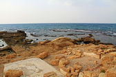 Herods Promontory Palace in Caesarea Maritima National Park — Stock Photo