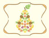 Fruity Pear — Stock Vector