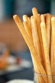 Palitos de pan en un frasco — Foto de Stock