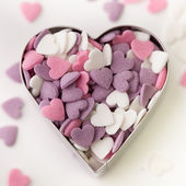 Heart shaped candy sweets — Stok fotoğraf