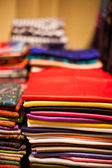 Scarves in a market — Stock Photo