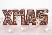 Xmas Wooden Letters — Stock Photo