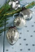 Christmas glass baubles — Stock Photo