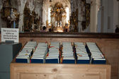 Bibles in romantic church — Stock Photo