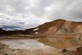 Sulfur lake in Krafla volcano — Stock Photo