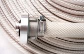 Water hose  Fire Hose with couplings — Stockfoto
