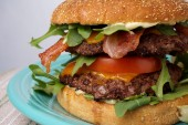 Great bacon and cheese burger — Stock Photo