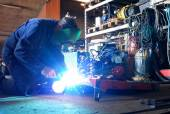 Welding in the workshop — Stock Photo
