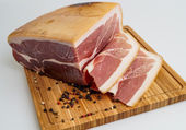 Whole prosciutto italian ham — Stock Photo