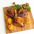 Roasted crispy duck leg — Stock Photo #62142203