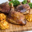 Roasted crispy duck leg — Stock Photo #62142401