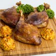 Roasted crispy duck leg — Stock Photo #62142939