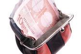 Purse with Money — Stock Photo